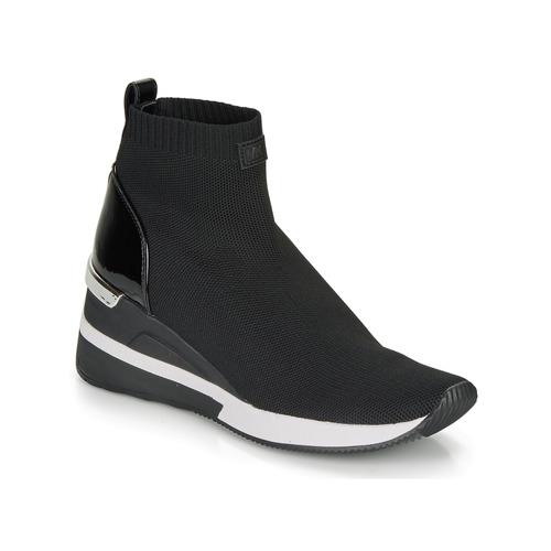 Schuhe Damen Sneaker High MICHAEL Michael Kors SKYLER Schwarz