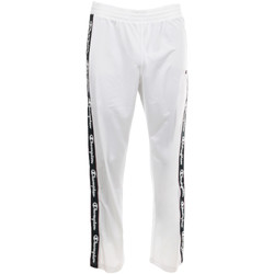 Kleidung Herren Jogginghosen Champion Straight Hem Pants Men's Weiss