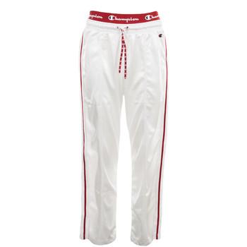 Kleidung Damen Jogginghosen Champion Straight Hem Pants Weiss