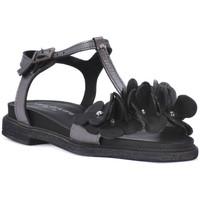 Schuhe Damen Sandalen / Sandaletten Sono Italiana NERO LAMINATO Nero
