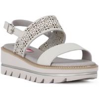 Schuhe Damen Sandalen / Sandaletten CallagHan GREIGE LONG BEACH Grigio
