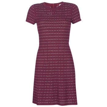Kleidung Damen Kurze Kleider MICHAEL Michael Kors EMBELL FLARE MINI DRS Bordeaux