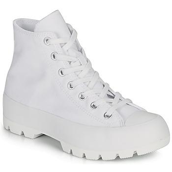 Schuhe Damen Sneaker High Converse CHUCK TAYLOR ALL STAR LUGGED BASIC CANVAS Weiss