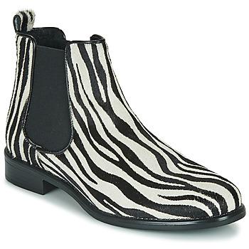 Schuhe Damen Boots Betty London HUGUETTE Schwarz / Weiss / Olive / gelb