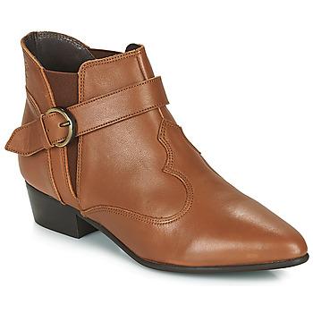 Schuhe Damen Boots Betty London LYDWINE Cognac