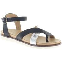 Schuhe Damen Sandalen / Sandaletten Macakitzbühel Sandaletten 2411 nero silver schwarz