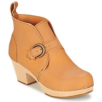 Schuhe Damen Low Boots Swedish hasbeens PETRA Beige