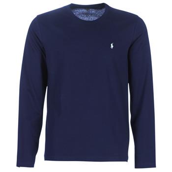 Kleidung Herren Langarmshirts Polo Ralph Lauren L/S CREW-CREW-SLEEP TOP Marine