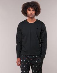Kleidung Herren Langarmshirts Polo Ralph Lauren L/S CREW-CREW-SLEEP TOP Schwarz