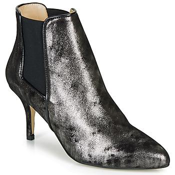 Schuhe Damen Low Boots Ippon Vintage SILVER LAKE Schwarz / Silbern