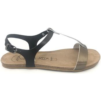Schuhe Damen Sandalen / Sandaletten Amoa sandales SANARY Noir/Aciero Schwarz
