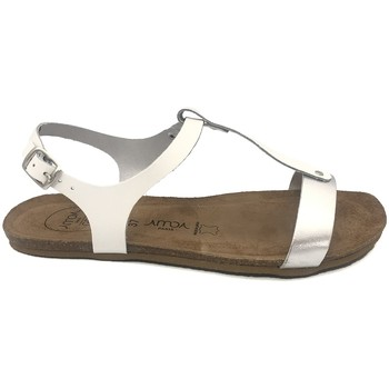 Schuhe Damen Sandalen / Sandaletten Amoa sandales SANARY Blanc/Argent Weiss