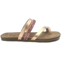 Schuhe Damen Pantoletten Amoa sandales LORGUES Rose/Glit Rose