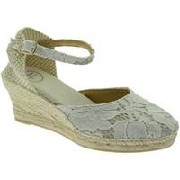 Schuhe Damen Leinen-Pantoletten mit gefloch Toni Pons TOPCORFU-5JAco marrone