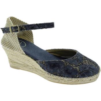 Schuhe Damen Leinen-Pantoletten mit gefloch Toni Pons TOPCORFU-5JAbl blu