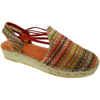 Schuhe Damen Leinen-Pantoletten mit gefloch Toni Pons TOPNOA-RKco rosso