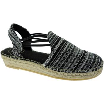 Schuhe Damen Leinen-Pantoletten mit gefloch Toni Pons TOPNOA-RKne nero