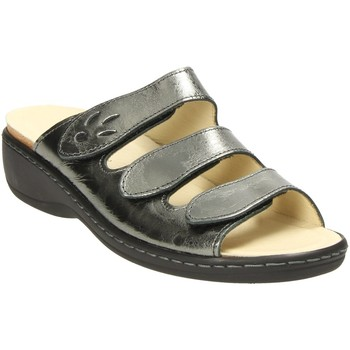 Schuhe Damen Pantoffel Diverse Pantoletten Wechsel Kork-Fußbett 1.006.396 silber