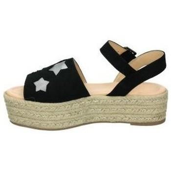 MTNG 57839 Noir - Schuhe Leinen-Pantoletten mit gefloch Damen 2495