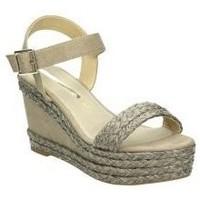 Schuhe Damen Leinen-Pantoletten mit gefloch Maria Mare 67175 Marron