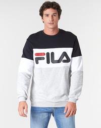 Kleidung Herren Sweatshirts Fila STRAIGHT BLOCKED CREW Grau / Schwarz