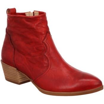 Schuhe Damen Low Boots Paul Green Stiefeletten 9529 9529-046 rot