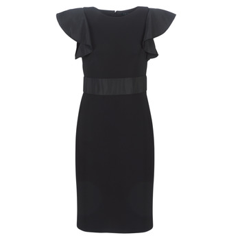 Kleidung Damen Kurze Kleider Lauren Ralph Lauren JERSEY SLEEVELESS COCKTAIL DRESS Schwarz