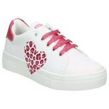 Schuhe Kinder Sneaker Low Asso AG550-851 Blanc