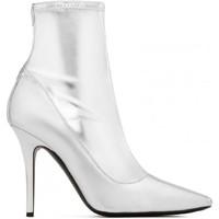 Schuhe Damen Klassische Stiefel Giuseppe Zanotti I870030 001 argento
