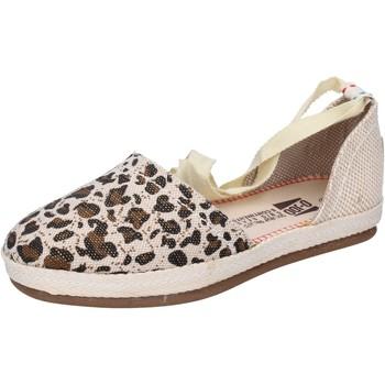 O-joo sandalen segeltuch beige - Kostenloser Versand |  - Schuhe Leinen-Pantoletten mit gefloch Damen 2499