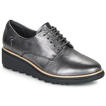 Schuhe Damen Derby-Schuhe Clarks SHARON NOEL Silbern