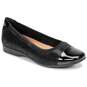 Schuhe Damen Ballerinas Clarks UN DARCEY CAP Schwarz