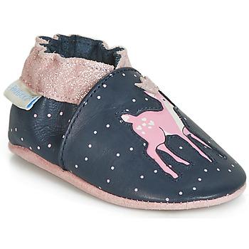 Schuhe Mädchen Babyschuhe Robeez LITTLE FAWN Marine / Rose