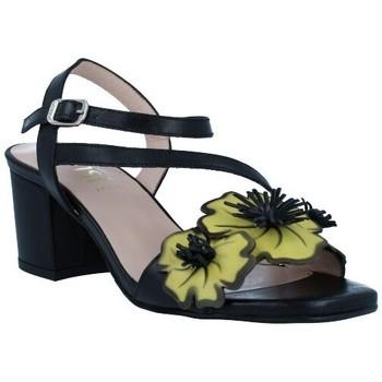 Schuhe Damen Sandalen / Sandaletten Dansi 1260 Sandalias con Tacón de Mujer schwarz