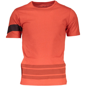 Kleidung Herren T-Shirts Gas GATS01STRIPES AB30 ORANGE MANDARIN