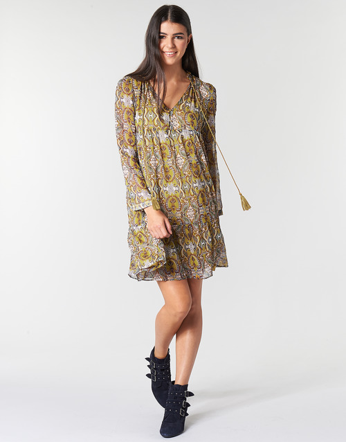 Moony Mood LONI Gelb - Kostenloser Versand |  - Kleidung Kurze Kleider Damen 3399 9mjBy