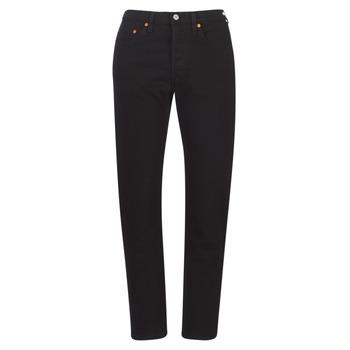 Kleidung Damen Boyfriend Jeans Levi's 501 CROP Schwarz / Black multi wf sde