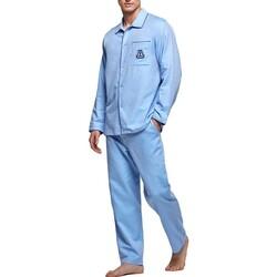Kleidung Herren Pyjamas/ Nachthemden Impetus 1563309 789 Blau