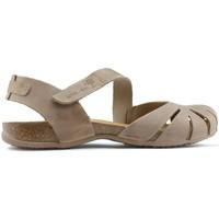 Schuhe Damen Sandalen / Sandaletten Interbios SANDALEN UNIVERSUM BEIGE