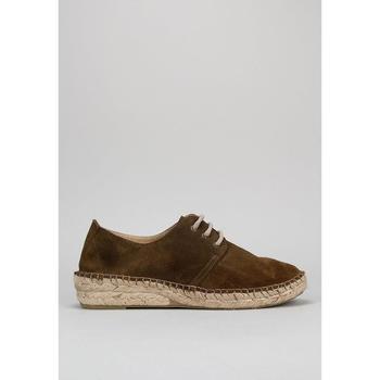 Schuhe Damen Leinen-Pantoletten mit gefloch Senses & Shoes  Kaki