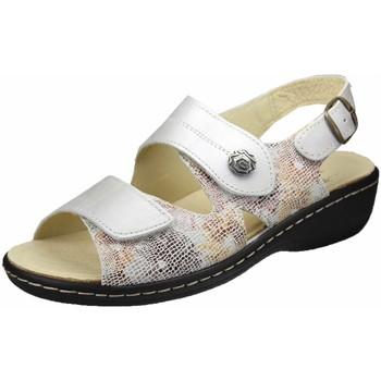 Schuhe Damen Sandalen / Sandaletten Portina Sandaletten hellbeige-braun-senf 42.451 grau
