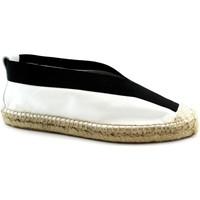 Schuhe Damen Leinen-Pantoletten mit gefloch Ska -E19-RAUL-BI Bianco