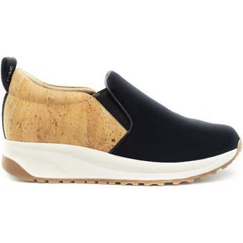 Schuhe Damen Slip on Nae Vegan Shoes Veka NeoCork Schwarz