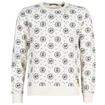 Kleidung Herren Sweatshirts Scotch & Soda CREWNECK SWEAT WITH LOGO ALL-OVER PRINT Weiss