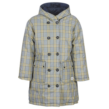 Kleidung Damen Daunenjacken Maison Scotch REVERSIBLE DOUBLE BREASTED JACKET IN CHECK AND SOLID Marine
