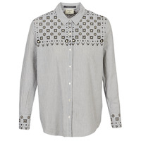 Kleidung Damen Hemden Maison Scotch BUTTON UP SHIRT WITH BANDANA PRINT Grau