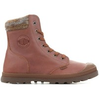 Schuhe Damen Boots Palladium Manufacture Pampa Knit LP F Braun