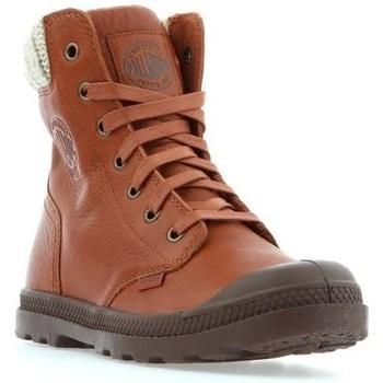 Schuhe Damen Boots Palladium Manufacture Pampa HI Knit LP Braun