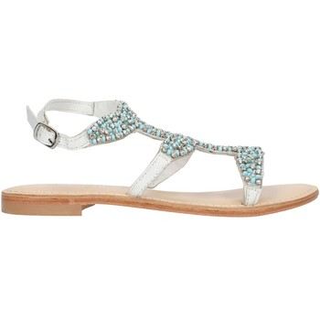 Schuhe Damen Sandalen / Sandaletten Cristin CATRIN9 Weiß und blau