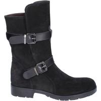 Schuhe Damen Klassische Stiefel Triver Flight stiefeletten wildleder schwarz